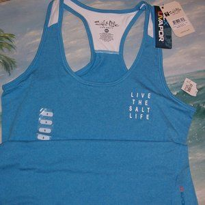 SALT LIFE BLUE UV VAPOR SWIM - WORKOUT TANK TOP